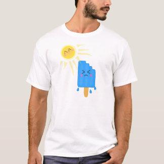 Camiseta bloco de gelo de derretimento