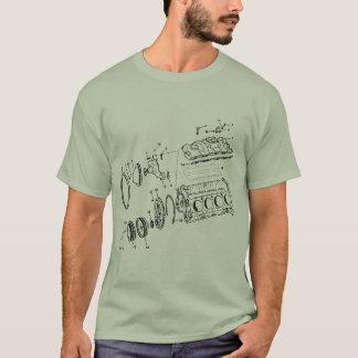 Camiseta bloco de motor 454ci