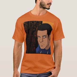Camiseta Bloco para obstruir a caracterização do homem