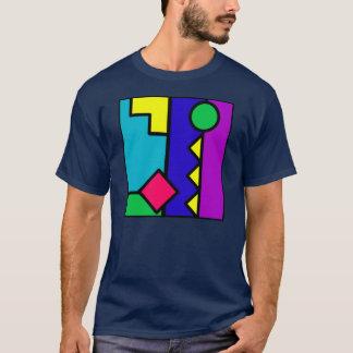 Camiseta Bloco retro da cor 80s