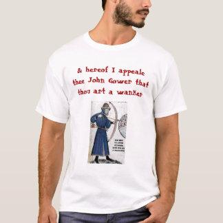 Camiseta Blogue de Chaucer: Gower = Wankere