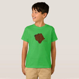 Camiseta Bloodhound cabeça silhueta