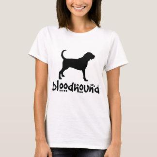 Camiseta Bloodhound com texto legal