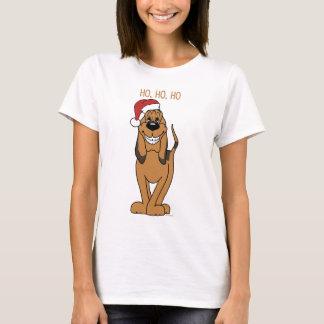 Camiseta Bloodhound Santa
