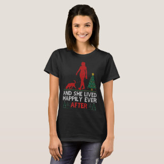 Camiseta Bloodhound viveu feliz nunca após o Natal
