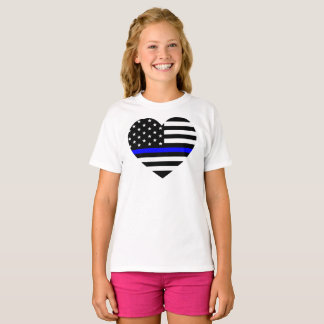 Camiseta Blue Line fino - bandeira americana