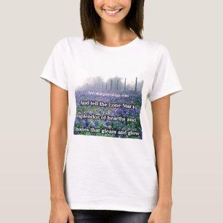 Camiseta Bluebonnet solitário do poema da árvore