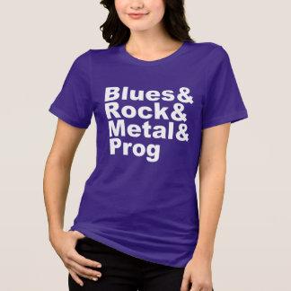 Camiseta Blues&Rock&Metal&Prog (branco)