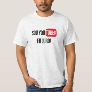 Camiseta Blusa SOU UM YOUTUBER, EU JURO!