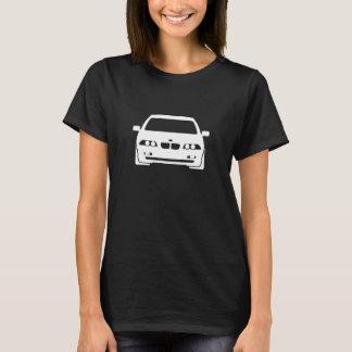 Camiseta BMW mulheres escuras gráficas de 3 séries