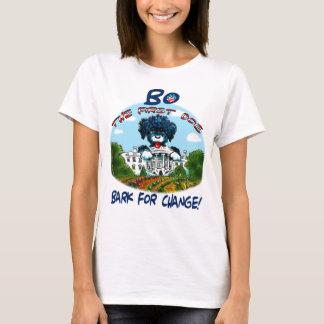 Camiseta BO o primeiro T das mulheres da mudança do cão