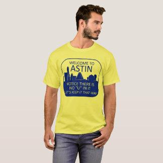 Camiseta Boa vinda a Astin (cores claras)