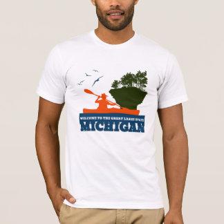 Camiseta Boa vinda a Michigan (MI) - logotipo da cor