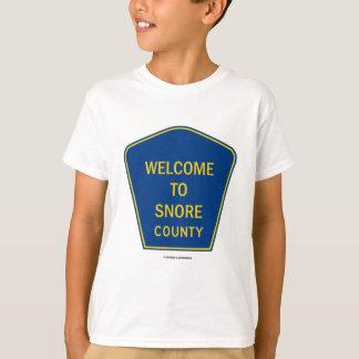 Camiseta Boa vinda a ressonar condado (sinais)