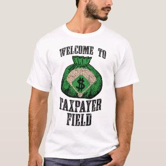 Camiseta Boa vinda ao campo do contribuinte (branco)