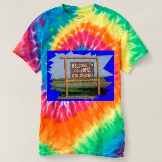 Camiseta Boa vinda ao t-shirt tingido de Colorado laço