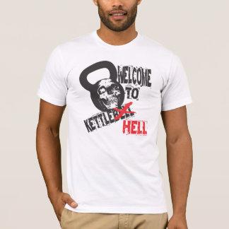 Camiseta Boa vinda ao tshirt do inferno de Kettlebell