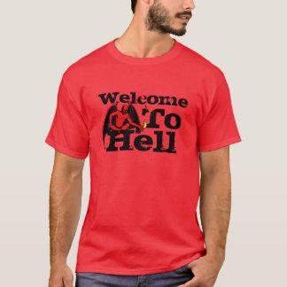 Camiseta Boa vinda do vermelho ao demónio do inferno