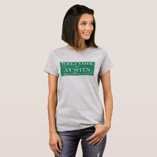 Camiseta Boa vinda engraçada ao t-shirt de Austin