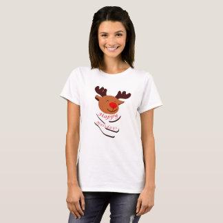 Camiseta Boas festas: Cervos bonitos