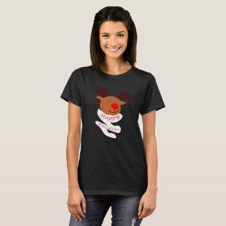 Camiseta Boas festas: Cervos bonitos (W)
