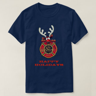 Camiseta Boas festas departamento dos bombeiros de St Louis
