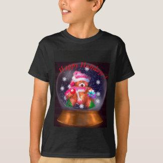 Camiseta Boas festas globo da neve
