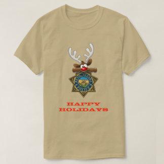 Camiseta Boas festas polícia de Reno Nevada da rena