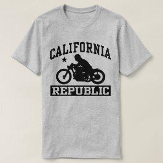 Camiseta Bobber da motocicleta da república de Califórnia
