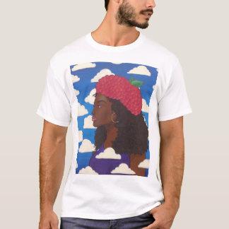 Camiseta Boina T branco da framboesa do gajo
