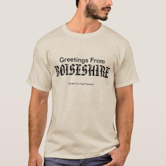 Camiseta Boiseshire dá-lhe boas-vindas