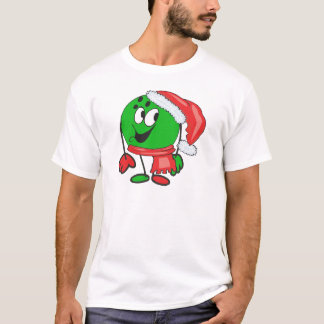 Camiseta Bola de boliche do Natal feliz que veste um boné
