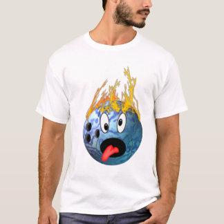 Camiseta Bola de boliche flamejante louca
