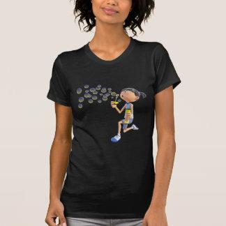 Camiseta Bolhas de sopro da menina dos desenhos animados