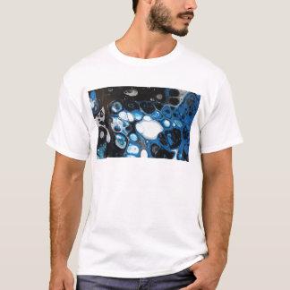 Camiseta Bolhas pretas & azuis