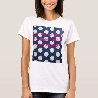 Camiseta Bolinhas cor-de-rosa azuis