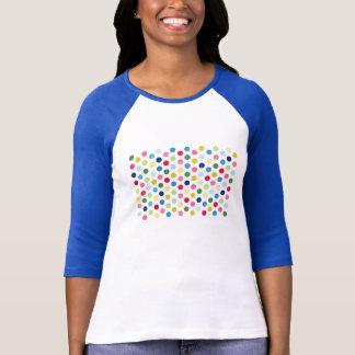 Camiseta Bolinhas do arco-íris