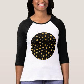 Camiseta Bolinhas elegantes - ouro preto