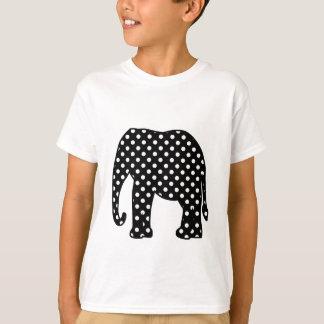 Camiseta Bolinhas preto e branco