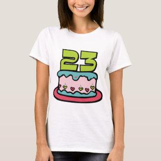 Camiseta Bolo de aniversário das pessoas de 23 anos
