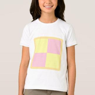 Camiseta Bolo de Battenburg. Rosa e amarelo
