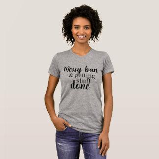 Camiseta Bolo desarrumado & obtenção do t-shirt feito