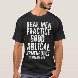 Camiseta Bom hermeneutics bíblico da prática real dos