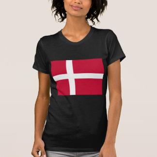 Camiseta Bom impressão da bandeira de Dinamarca da cor