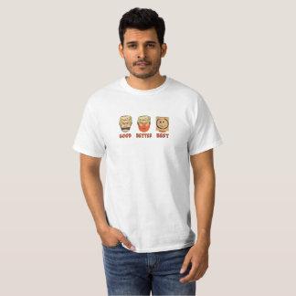 Camiseta Bom, melhor, melhor