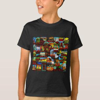 Camiseta Bomba americana do decalque das viagens vintage