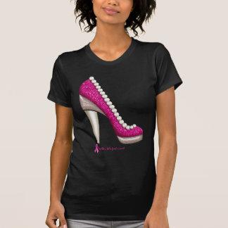 Camiseta Bomba da pérola do brilho da consciência do cancro