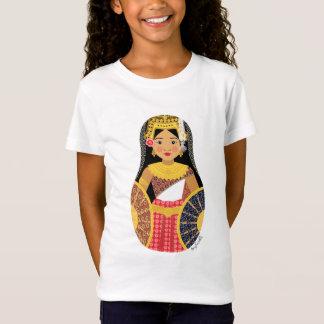 Camiseta Boneca cambojana das meninas de Matryoshka da