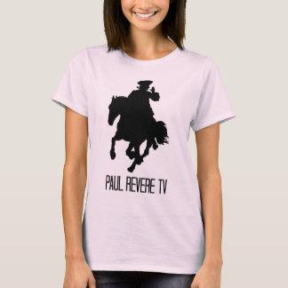 Camiseta Boneca das senhoras cor-de-rosa