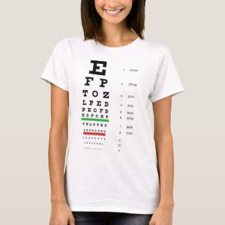 Camiseta Boneca das senhoras da carta de olho de Snellen